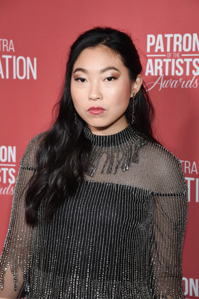 More Pics of Awkwafina Satin Clutch (1 of 2) - Clutches Lookbook - StyleBistro [hair,beauty,hairstyle,lip,premiere,fashion,neck,black hair,long hair,eyelash,beverly hills,california,wallis annenberg center for the performing arts,sag-aftra foundations 4th annual patron of the artists awards,arrivals,awkwafina]