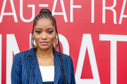 Keke Palmer wore her hair in long cornrows at the SAG-AFTRA Foundation Conversation: 'Hustlers.'