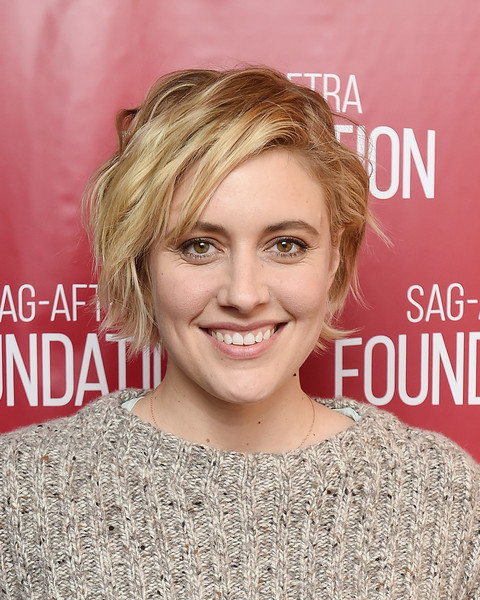 Greta Gerwig looked cool with her mussed-up 'do at the SAG-AFTRA Foundation Conversations.