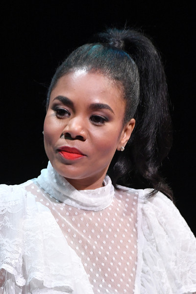 Regina Hall swept her hair up into a high ponytail for the SAG-AFTRA Foundation Conversations.