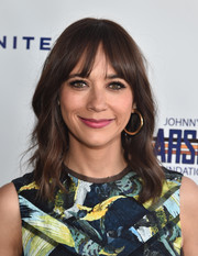 Classic gold hoops finished off Rashida Jones' look.