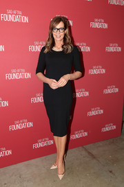 Allison Janney kept it simple with this fitted LBD at the SAG-AFTRA Foundation Patron of the Artists Awards.