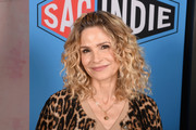 Kyra Sedgwick styled her signature curls into a half-up 'do for the SAGindie Sundance Filmmakers Reception.