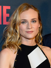 Diane Kruger styled her tresses with piecey waves for the Mayweather vs. Pacquiao pre-fight party.