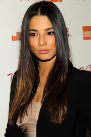 Jessica Gomes wore her long luxurious tresses straight and super-shiny at the 'Sports Illustrated' Overtime event.