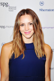 Katharine McPhee wore a mildly messy center-parted 'do to the SPG Hear the Music, See the World show.