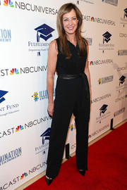 Allison Janney opted for a simple black jumpsuit when she attended the Stars 2013 benefit gala.