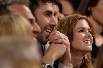 Sacha Baron Cohen Isla Fisher Backstage at the AFI Lifetime Achievement Awards