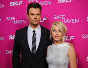 Josh Duhamel's striped tie was a classic choice for the New York screening of 'Safe Haven.'
