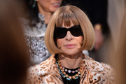 Anna Wintour sat front row at the Saint Laurent Fall 2016 show wearing her trademark bob.