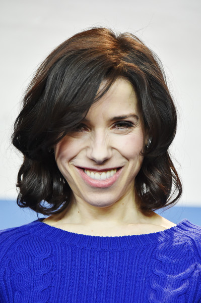 Sally Hawkins Curled Out Bob [hair,face,hairstyle,chin,eyebrow,smile,layered hair,lip,beauty,forehead,berlin,germany,grand hyatt hotel,maudie press conference,photo call,berlinale international film festival,berlinale international film festival berlin,sally hawkins,maudie]