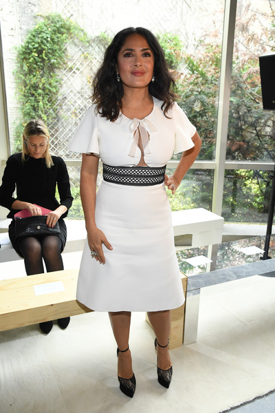 Salma Hayek Cutout Dress