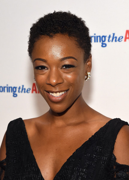 Samira Wiley Short Curls [hair,hairstyle,eyebrow,black hair,forehead,lip,s-curl,smile,jheri curl,lace wig,arrivals,samira wiley,new york city,cipriani 42nd street,exploring the arts gala]