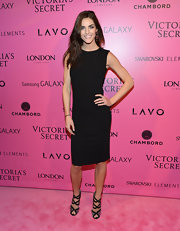 Hilary Rhoda kept things classy at the Victoria's Secret Fashion Show after-party in this LBD.