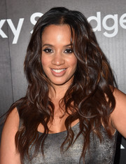 Dascha Polanco was glamorously coiffed with long, lush waves at the Samsung launch party.