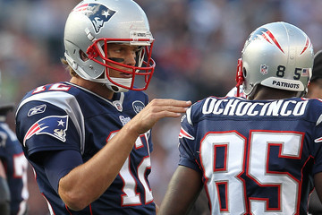 Tom Brady Chad Johnson San Diego Chargers v New England Patriots