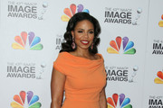 Sanaa Lathan Off-the-Shoulder Dress