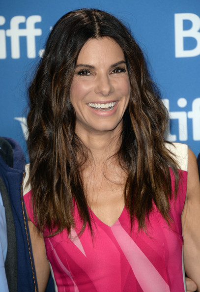 Sandra Bullock Long Wavy Cut