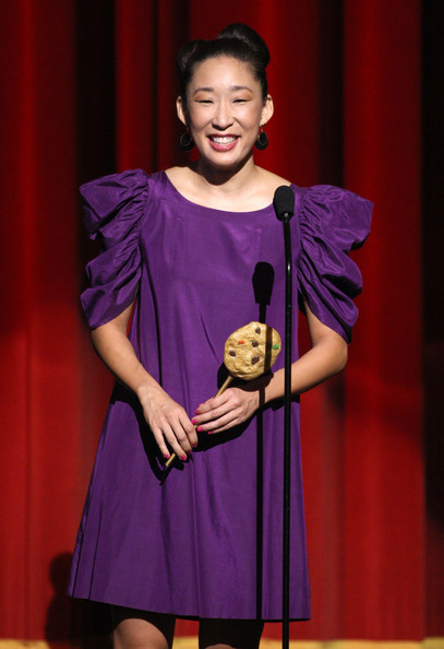 Sandra Oh Mini Dress [sandra oh,performance,talent show,fashion,performing arts,event,heater,fashion design,stage,drama,daytime emmy awards,show,california,los angeles,the orpheum theatre]