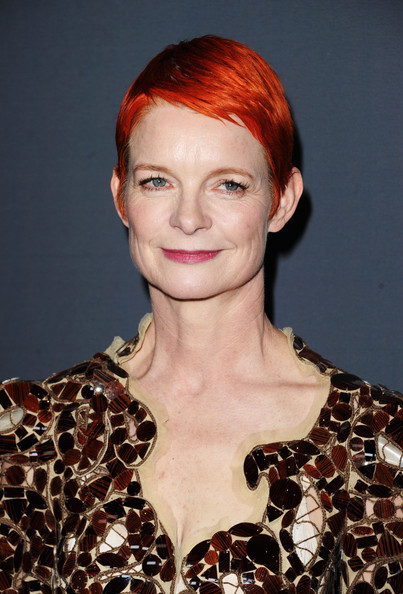 Sandy Powell Pixie [hair,face,hairstyle,red hair,beauty,lip,eyebrow,chin,fashion,hair coloring,sandy powell,lacoste - arrivals,lacoste,hotel,california,beverly hills,the beverly hilton,sponsor,costume designers guild awards]