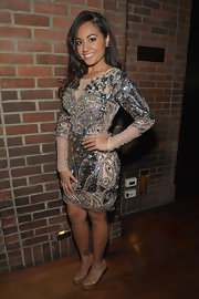 Jessica Mauboy sparkled in a long-sleeve beaded dress, which she wore to 'The Sapphires' after party.