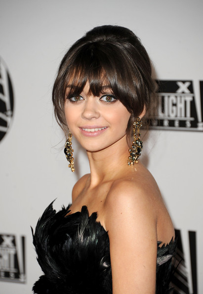 Sarah Hyland Dangling Gemstone Earrings