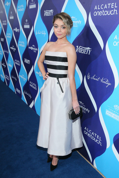 Sarah Hyland Strapless Dress