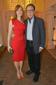 Alicia Witt stunned in a classic red, column-style dress while at the Sarasota Film Festival.