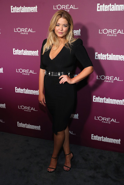 Sasha Pieterse Bandage Dress [red carpet,dress,clothing,little black dress,cocktail dress,fashion,premiere,carpet,footwear,event,brown hair,sasha pieterse,sunset tower,west hollywood,california,entertainment weekly,party,entertainment weekly pre-emmy party]
