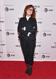 Susan Sarandon opted for a conservative black pantsuit when she attended the Tribeca Film Fest premiere of 'Saturday Church.'