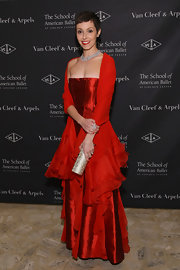 Amanda Brotman wore this strapless red ball gown to the American Ballet Winter Ball.