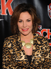 LuAnn de Lesseps wore her hair in a wavy bob at the Broadway opening of 'School of Rock.'