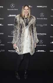 Annette joined the many fur clad women at Germany's Fashion Week.