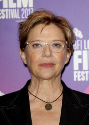 Annette Bening attended the BFI London Film Festival wearing her usual tousled short 'do.