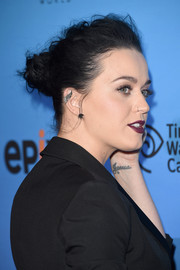 Katy Perry rocked a messy-glam loose bun at the 'Prismatic World Tour' screening.