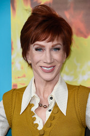 Kathy Griffin attended the screening of 'The Zen Diaries of Garry Shandling' wearing her hair in a short style with bangs.