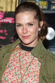 Katie Aselton chose a casual ponytail for her look at the screening of 'Frances Ha' in LA.