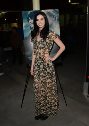 Krysten Ritter rocked a boho-style floral maxi at the Hollywood screening of 'Black Rock.'