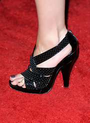 Katherine donned a pair of killer sandals on the red carpet.