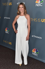 Natalie Morales was easy-breezy in a white spaghetti-strap jumpsuit at the finale screening of 'This Is Us.'