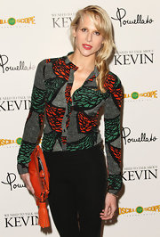 Lucy Punch looked vibrant in her colorful button-down shirt at the screening of 'We Need to Talk About Kevin.'