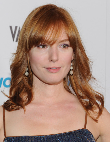 More Pics of Alicia Witt Long Wavy Cut with Bangs (1 of 8) - Alicia Witt Lookbook - StyleBistro