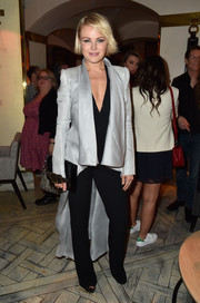 Malin Akerman looked super stylish in a silver tailcoat during the screening of 'I'll See You in My Dreams.'