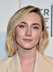 Saoirse Rona looked stylish with her barely-there waves at the 2018 Tribeca Film Festival premiere of 'The Seagull.'