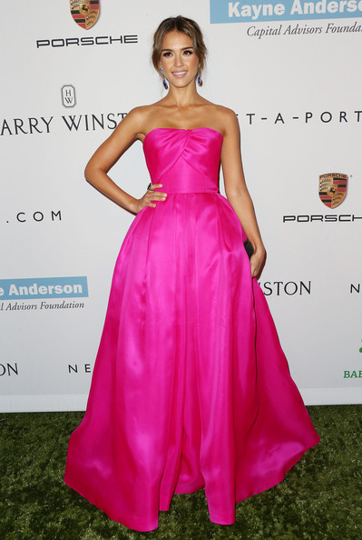 Hot Pink Reem Acra for the Baby2Baby Gala