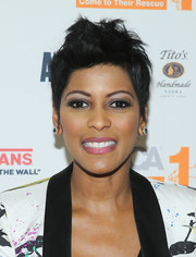 Tamron Hall rocked a mussed-up fauxhawk at the screening of 'Second Chance Dogs.'