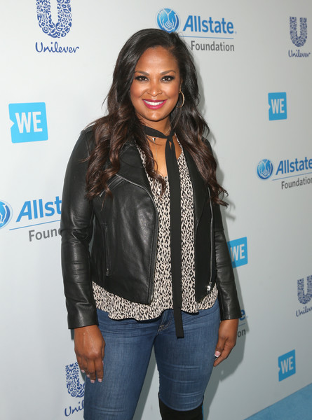 More Pics of Laila Ali Leather Jacket (6 of 6) - Outerwear Lookbook - StyleBistro [clothing,leather,jacket,outerwear,fashion,textile,long hair,leather jacket,fashion design,black hair,come together at we day california,california,selena gomez,demi lovato,alicia keys,laila ali,miss piggy,young people changing the world,dj khaled,bryan cranston]