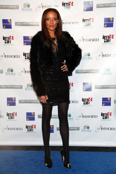 Selita Ebanks Fur Coat