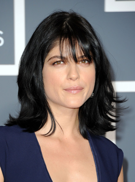 Selma Blair Medium Straight Cut with Bangs