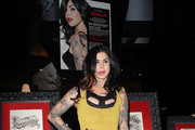 Kat Von D attends her first solo art show